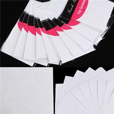 10 Blatt Nagel Kunst French Tips Sticker Herz Form Nagel Dekoration Neu
