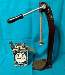 Vintage-BOTTLE-CAPPER-USA-WORKING