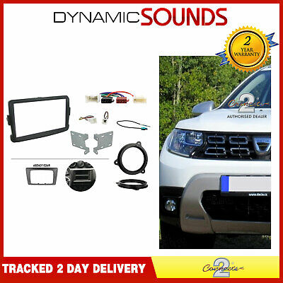 CTKDC03 Double Din Grey Fascia Speaker Brackets Kit for Dacia