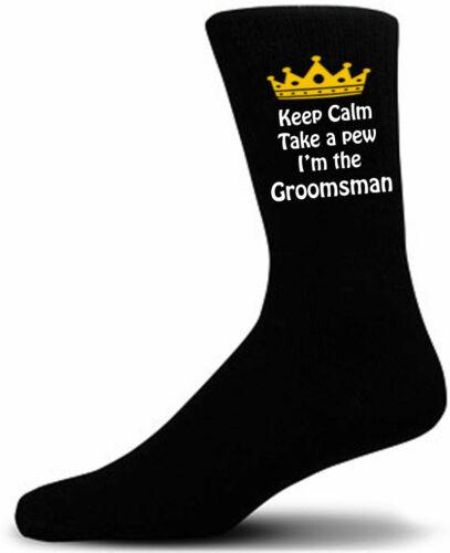 Keep Calm and take a pew Groom Page Boy Usher Wedding Socks Best Man