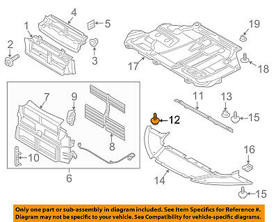 FORD OEM-Fender Liner Splash Shield Screw W716195S450B
