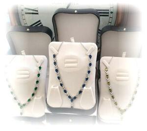 White-gold-finish-Dorchester-oval-Range-ruby-sapphire-emerald-peridot-necklace