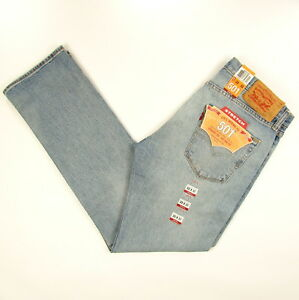 ab223acfd47 Levis 501 Jeans Original New Mens Size 33 x 32 MEDIUM BLUE W/STRETCH ...