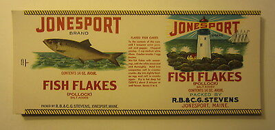 Wholesale Lot Of 100 Old Vintage Jonesport Fish Flakes Can Labels Maine Ebay