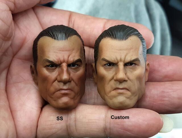 Custom 1//6 Punisher Head Sculpt VTS Sideshow Body Vest Pants Suit Hot Toys Works