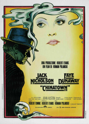 Chinatown  FILM MOVIE METAL TIN SIGN POSTER WALL PLAQUE