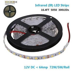 DC12V-SMD5050-300-IR-InfraRed-940nm-Flexible-LED-Strips-60LEDs-Non-Waterproof