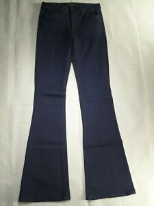 JOES-JEANS-stretch-high-rise-FLARE-womens-blue-denim-wide-leg-SIZE-26
