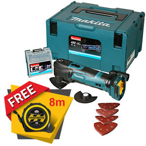 Makita DTM51ZJX7 18V Multi Tool With 23pc Acc Kit + Free Tape Measures 8M/26ft