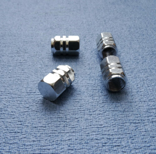 TOYOTA RAV4 metallo argento polvere TAPPI VALVOLA PNEUMATICO RUOTA IN ALLUMINIO