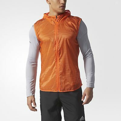 adidas Supernova TKO Flock-Print Vest Men's Orange