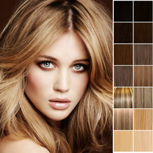 Deluxe-Clip-In-Remy-Human-Hair-Extensions-Full-Head-Double-Wefted-Any-Colour-UK