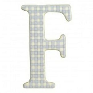 AMSCAN Ceramic Baby Wall Letter F Light Blue / Lavander Different Designs 449070