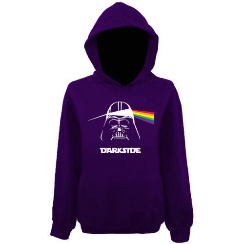 Womens Darkside Darth Vader Pink Floyd Pullover Hoodie NEW UK 12-20