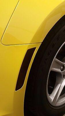 16-17 Camaro Front/&Rear Side Marker Rear reflector vinyl overlays smoke tint