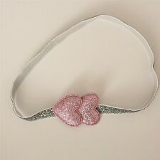 11c0c191a51 Baby Toddler Girls Kids Valentines Day Sparkling Double Heart Glitter  Headband