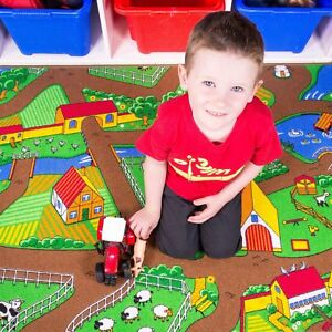 New-Kids-Bright-Interactive-Farm-Tractor-Animal-Country-Play-Mat-Childs-Bedroom