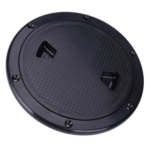 """Black 4/"""" Access Hatch Cover Screw Out Deck Plate for Marine Boat RV"""