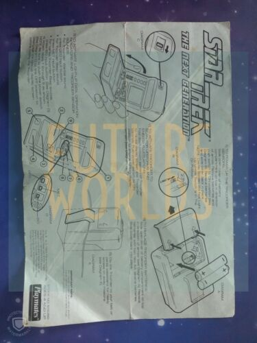 STAR TREK PLAYMATES ART ASYLUM TOY ORIGINAL INSTRUCTIONS MANUALS BLUEPRINTS LOT