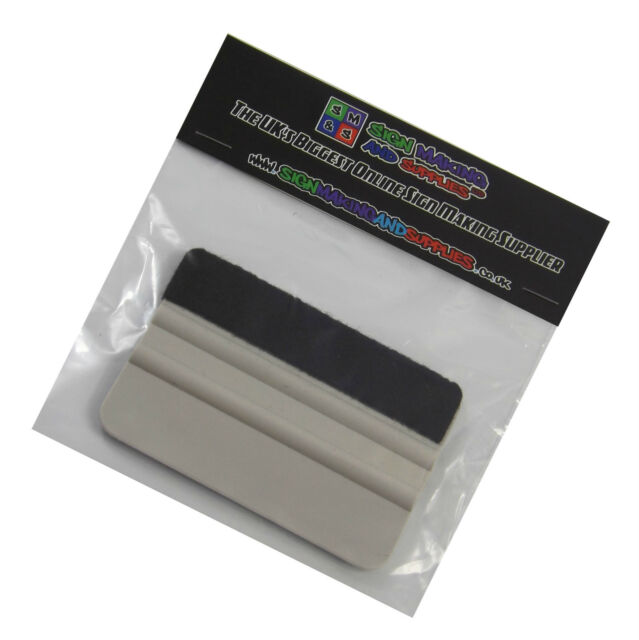 GREY FELT EDGED SQUEEGEE TOOL VEHICLE WRAPPING TINTING APPLICATOR
