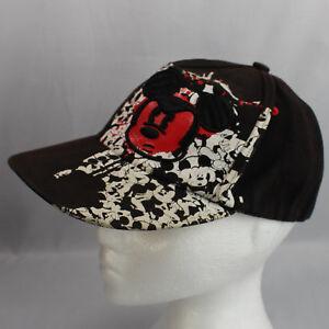 Cara-De-Mickey-Mouse-Rojo-Negro-Gorra-parques-de-Disney-Juventud-ajustada-100-algodon