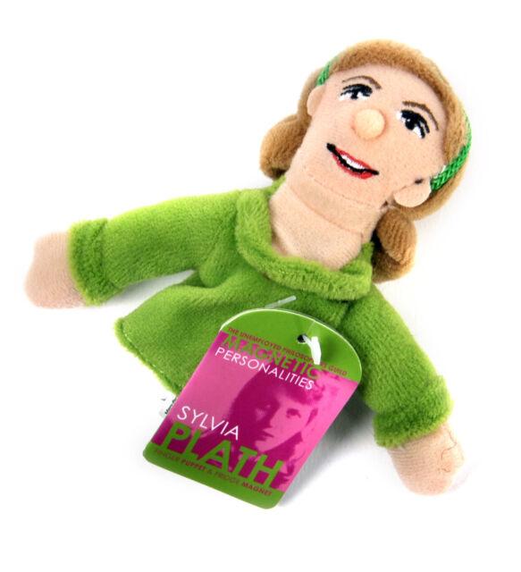 Sylvia Plath Finger Puppet and Refrigerator Magnet