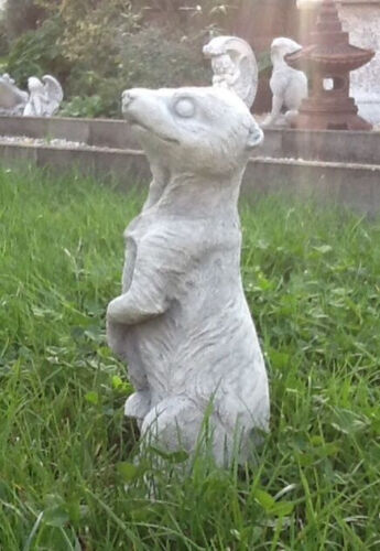 Gartenfiguren Skulpturen Statuen Steinguss Gartendeko Erdmännchen Tiere