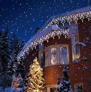 Details About Bright White Led Icicle Lights Snowing Indoor Outdoor X Mas Wedding Party