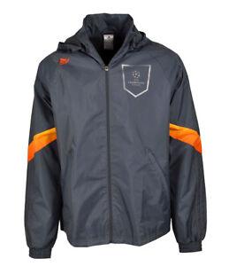 Details zu Adidas UEFA UCL Climaproof Regenjacke Windjacke Windbreaker Kapuze grau Gr L