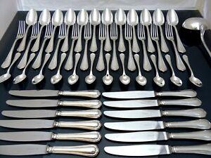 Christofle Spatours komplett Tisch Geschirr 12 Gedecke 48pcs + Pfanne