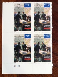 US-Scott-3782-LOUISIANA-PURCHASE-37-Cent-MNH-Plate-Block-of-4-2003