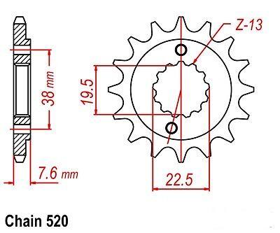 SUZUKI LTZ400 LTZ 400 SPROCKET 13//40 /& O-RING CHAIN SET//KIT 2004-2008 blk