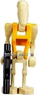 LEGO STAR WARS - BATTLE DROID COMMANDER FIGURE + FREE GUN ,7670,7681, FAST - NEW