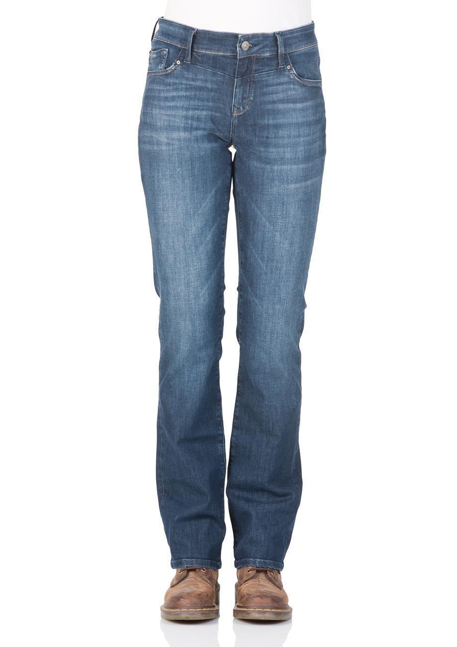 Mavi Damen Jeans Mona - Straight Fit - Blau - Dark Indigo Memory
