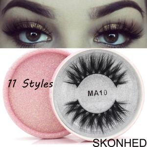 d818c67754e Natural Long Crisscross 3D Faux Mink Hair False Eyelashes Extension ...