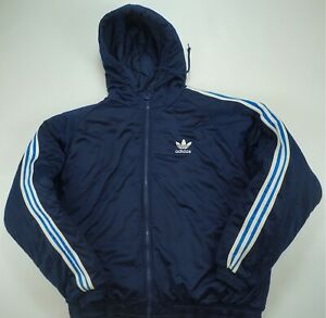dc94e3b44 Rare Vintage ADIDAS Spell Out Trefoil Quilt Lined Puffer Parka ...