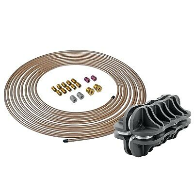 2 Kits 25 ft 4LIFETIMELINES Copper-Nickel Brake Line Tubing Coil and Fitting Kits 3//16 /& 1//4