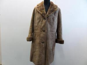Vtg Ankle Shearling 40 Lichtbruin 46 Brown 40Vtg Schapenvacht Leren Enkellaar 46 Sheepskin Leather Coat Light Schapen qSGzMVpU