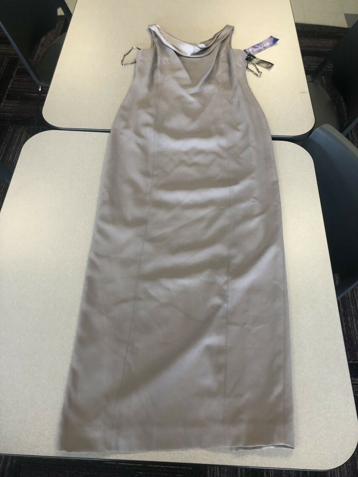 Evan-Picone Evening Special Occation Dress New NWT Size 12 Mushroom Grey