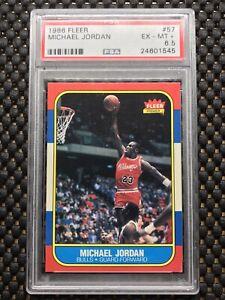 1986-87-Fleer-57-Michael-Jordan-Chicago-Bulls-Rookie-Card-Centered-PSA-6-5