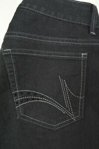 RIDERS-by-Lee-Size-10-Womens-BOOTCUT-Leg-EMBELLISHED-Stretch-BLACK-Denim-Jeans