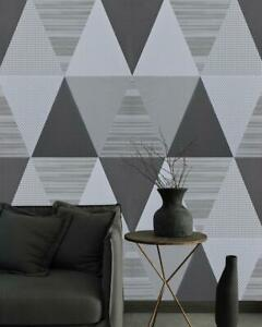 Geometric Gray Peel And Stick Wallpaper Self Adhesive Film Modern Decor Remove Ebay