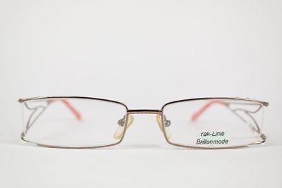 Vintage Rak-linie 435c 52[]18 130 Gold Orange Eckig Brille Brillengestell Nos Die Nieren NäHren Und Rheuma Lindern
