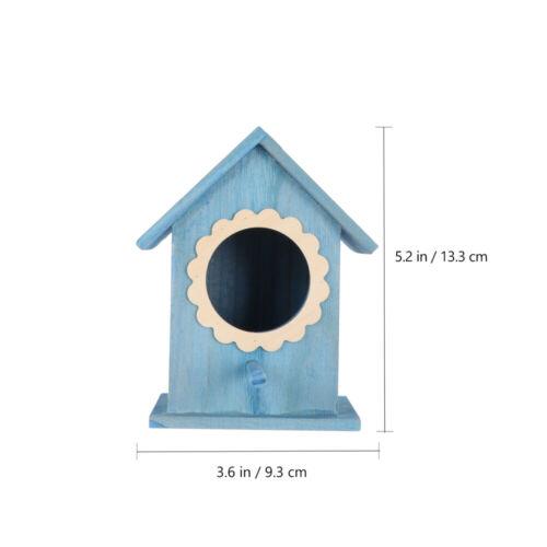 Wooden Bird House Hanging Birdhouse Bird Nest Decorative Hanging Bird Feeder