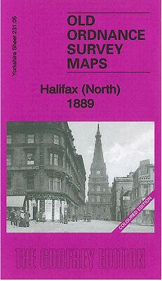 OLD ORDNANCE SURVEY MAP HALIFAX NORTH 1889 CROWN STREET NORTHGATE BOOTH TOWN