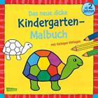 Das neue, dicke Kindergarten-Malbuch: Mit farbigen Vorlagen und lustiger Fehlersuche (Taschenbuch)