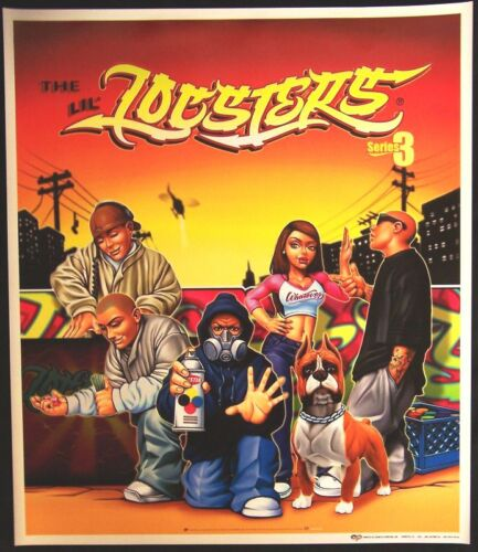 NEW Lil Locsters Poster Series # 3 Featuring the Urban Figures Figurines Homies