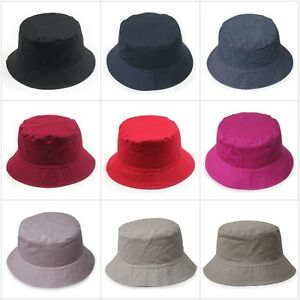 3ef9af676c910 Image is loading 100-COTTON-Comfortable-BUCKET-HAT-Daggy-Fishing-Camping-