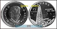 CANADA 2005 CANADIAN QUARTER QUEEN WWII WAR POPPY ALBERTA 25 CENT COIN