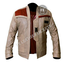 Men'S LEATHER JACKET Celebrity Designer Look John boyega FINN Star Wars